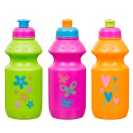 Sports Bottle with Colour Print 12oz 3pk - Hearts