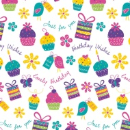 Trend Everyday Wrapping Paper - Floral Cupcakes - 3m