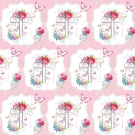 Trend Everyday Wrapping Paper - Floral Present - 3m