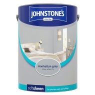 Johnstone's Paint Vinyl Soft Sheen Emulsion - Manhattan Grey 5L