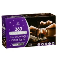Snowing LED Icicle Lights 360pk - Cool White