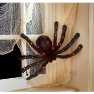 Light Up Hanging Spider Decoration
