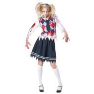 Ladies Bloody Halloween Dress Up - Zombie Schoolgirl
