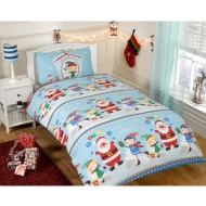 Christmas Single Duvet Cover - Santa's Helpers