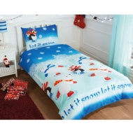 Christmas Single Duvet Cover - Let It Snow