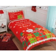 Christmas Single Duvet Cover - Please Leave My Presents Here