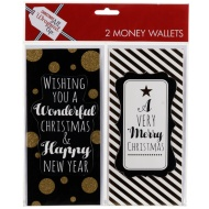 Christmas Money Wallets 2pk - Wishing You a Wonderful Christmas