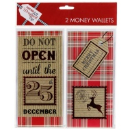 Christmas Money Wallets 2pk - Do Not Open Until...
