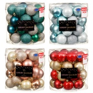 Deluxe Luxury Christmas Baubles 40pk 50mm