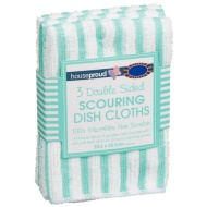Double Sided Scouring Dish Cloths 3pk