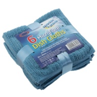 6 Microfibre Dish Cloths