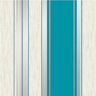 Vymura Synergy Stripe Wallpaper - Teal