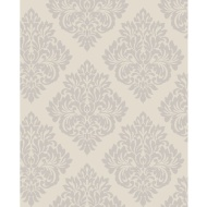 Fine Decor Sparkle Putty - Silver Damask Wallpaper