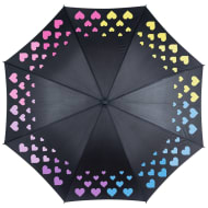 Colour Changing Umbrella - Hearts