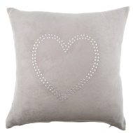 Nadine Diamante Heart Cushion