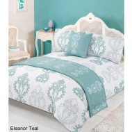 Floral Bed in a Bag - King Size - Eleanor Teal