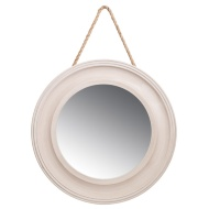 Porthole MDF Mirror with Hanging Rope
