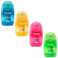 Milan Capsule Eraser & Sharpener Set