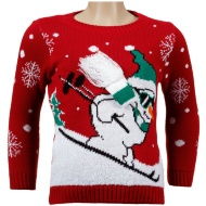 Boys Christmas Jumper - Skiing Snowman