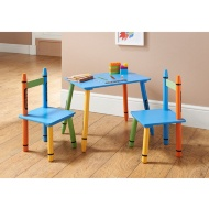 Crayon Table & Chairs