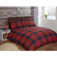 Brushed Cotton Check King Duvet Set