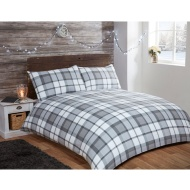 Brushed Cotton Check Double Duvet Set