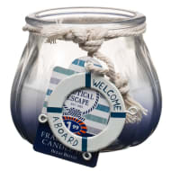 Nautical Glass Jar Candle - Welcome Aboard