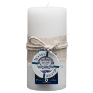 Nautical Pillar Candle - Welcome Aboard