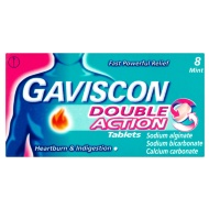 Gaviscon Double Action Tablets 8pk - Mint