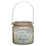 Nautical Quote Candle Jar - Lovin' Life at the Beach