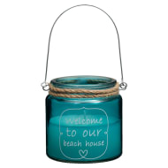 Nautical Quote Candle Jar - Welcome to Our Beach House