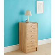 Copenhagen 5 Drawer Tall Chest