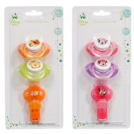 Disney Baby Soothers with Clip Holder 2pk