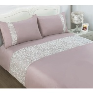 Pisa Lace King Duvet Set