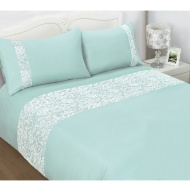 Pisa Lace Double Duvet Set