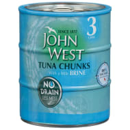 John West Tuna Chunks in Brine 3 x 110g