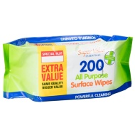 Antibacterial Surface Wipes 200pk
