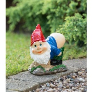 Mooning Gnome with Solar Powered Light