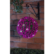 Solar Powered Rose Ball 28cm - Pink
