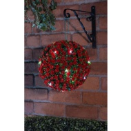 Solar Topiary Ball 28cm - Red