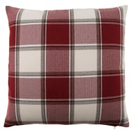 Tartan Oversized Cushion - Red