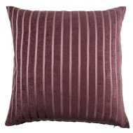Jenna Satin Stripe Cushion - Plum