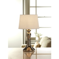 Idaho Chrome Lamp - White Shade