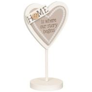 Heart Slogan Stand - Home is Where Our Story Begins