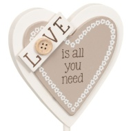 Heart Slogan Stand - Love is All You Need