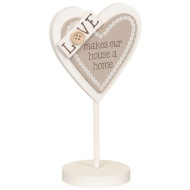 Heart Slogan Stand - Love Makes Our House a Home