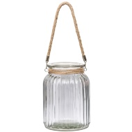 Giant Ribbed Candle Jar