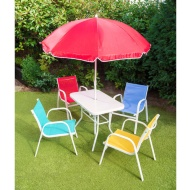 Kids Patio Set with Stackable Chairs