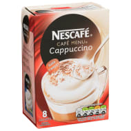 Nescafe Cafe Menu Cappuccino 8pk