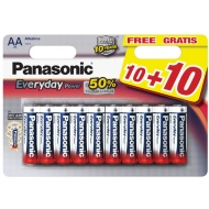 Panasonic AA Batteries 10 Pack + 10 Free